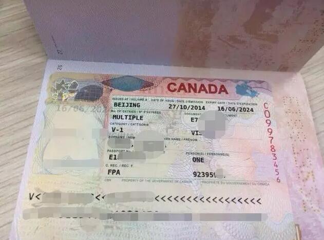 加拿大签证图